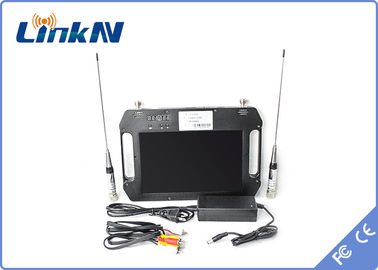 China Outdoor Portable COFDM Receiver , AV Output Handheld Receiver Battery Powered factory