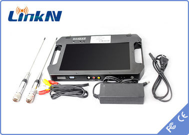 China COFDM Portable Digital Video Receiver With Battery Powered TF Card Storage FAT32 128G factory