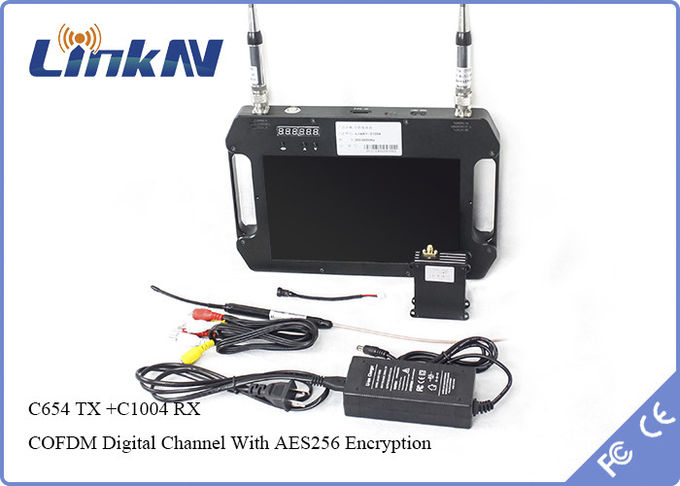 1W Cofdm Wireless Transmitter With AES256 Encryption -106dBm Receiving Sensitivity Receiver